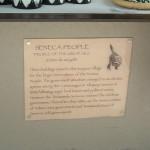 Signage identifying Seneca people with descriptive signage