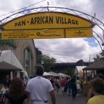 Pan-African Village grand entrance