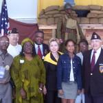 "Vintage NYS Fair photo ""The Clinton's visit Pan-African Village"""