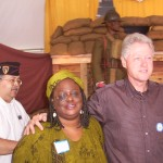 Former President Clinton and NAACP President Donna Reese at Harlem Hell-fighters WWI exhibition