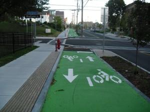 Dedicated Bike lanes will identify alternative travel paths