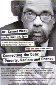 Dr. Cornel West, Sunday April 27 at Tucker Missionary Baptist Church