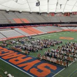 Seventh and eighth grade students attending schools in the SCSD participated in Environmental Challenge 2014 held at the Carrier Dome.   The event was hosted by the district and SUNY-ESF.