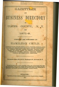 Gazeteer and business directory of Ulster County NY 1871-High-Res