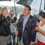 Gov. Cuomo & Onondaga County Executive Joanie Mahoney brave rain storm at 2014 State Fair Opening Ceremony