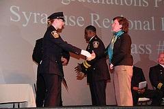 Mayor congratulates newly sworn-in Police Academy Graduates