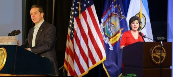 Gov. Andrew Cuomo and Syracuse Mayor, Stephanie A. Miner have argued over the  need for increased infrastructure spending.