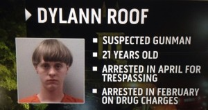 Dylann Roof, suspected shooter.