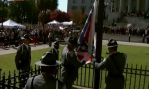 Confederate Flag Lowered