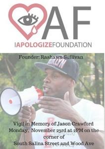 IApologize Vigil Flyer