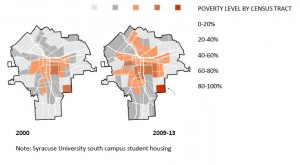 Poverty Map of Syracuse, click on image to enlarge