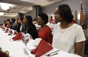 The Syracuse Alumnae Chapter of the Delta Sigma Theta Sorority held the 41st annual May Week Scholarship and Fortitude Awards Celebration at the DoubleTree by Hilton Syracuse. Nelaj Archie of Henninger H.S., right, was one of nine Syracuse City School District seniors were among a dozen young people that received scholarships. Photo by John Berry