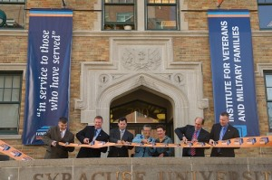 Institute for Veterans, Military Families and SU staff at Ribbon Cutting Ceremony