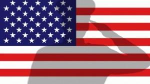 Veterans Day salute flag