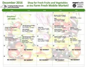 Farm Fresh Mobile Market December 2016